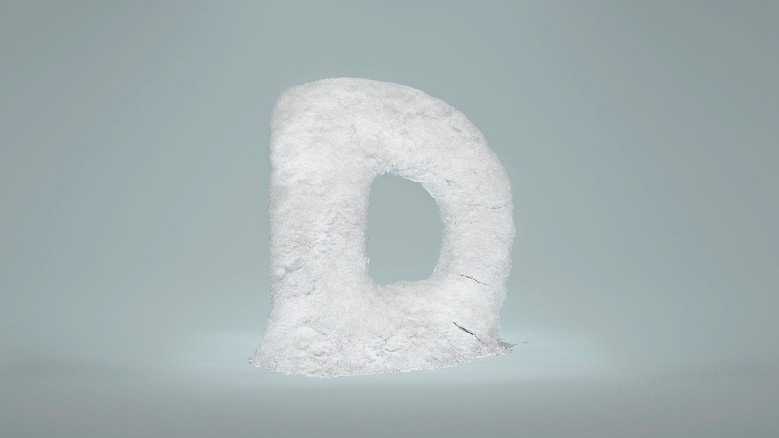 Buchstabe D symbolhaft umgesetzt