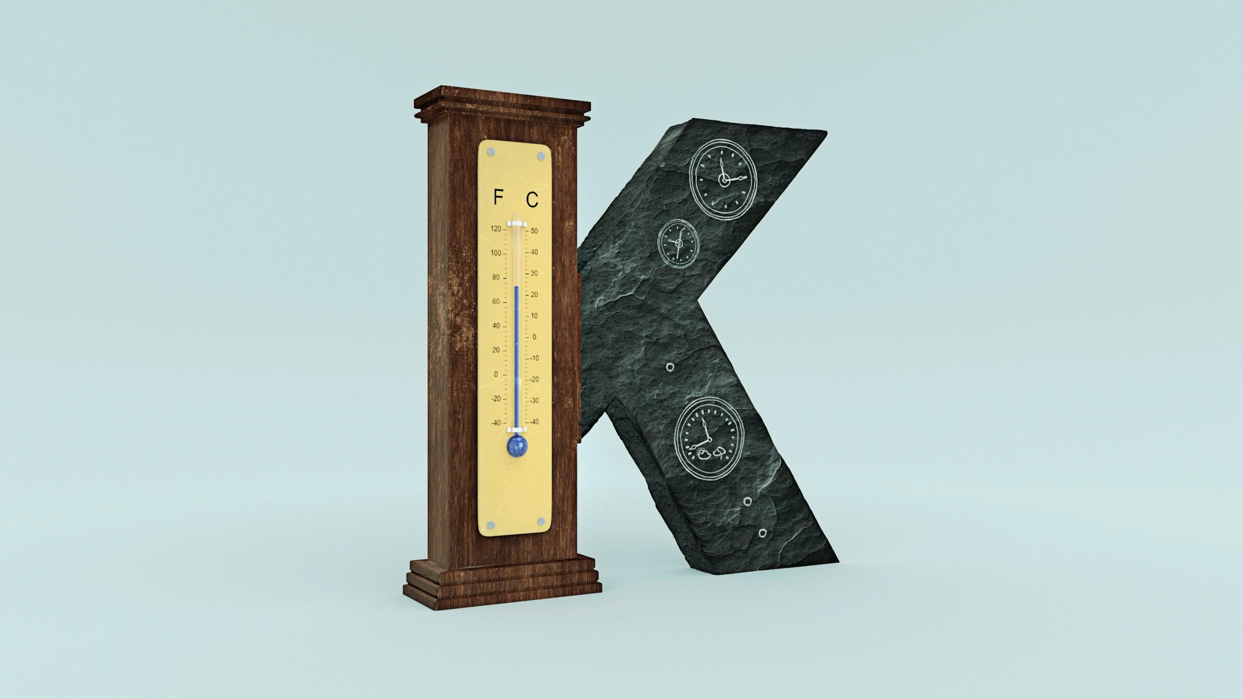 Buchstabe K symbolhaft umgesetzt